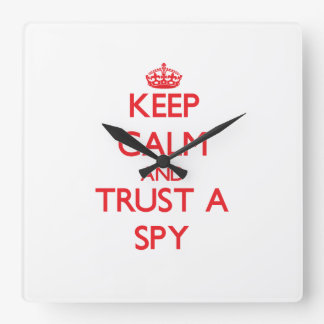 Keep Calm and Trust a Spy Wallclock