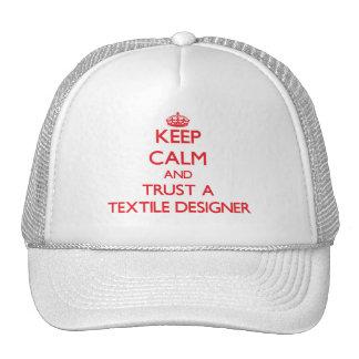 Keep Calm and Trust a Textile Designer Mesh Hat