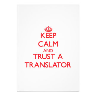Keep Calm and Trust a Translator Custom Invitation
