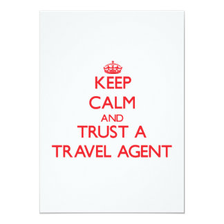 Keep Calm and Trust a Travel Agent Personalized Invite