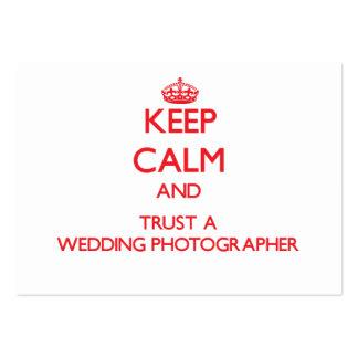 Keep Calm and Trust a Wedding Photographer Business Card Template