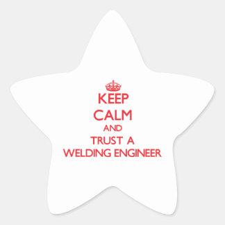 Keep Calm and Trust a Welding Engineer Sticker
