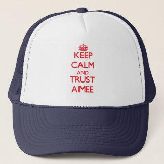 Keep Calm and TRUST Aimee Trucker Hat