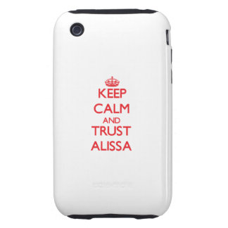 Keep Calm and TRUST Alissa Tough iPhone 3 Case
