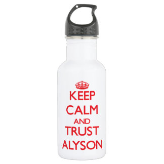 Keep Calm and TRUST Alyson 532 Ml Water Bottle