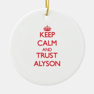 Keep Calm and TRUST Alyson Christmas Ornaments