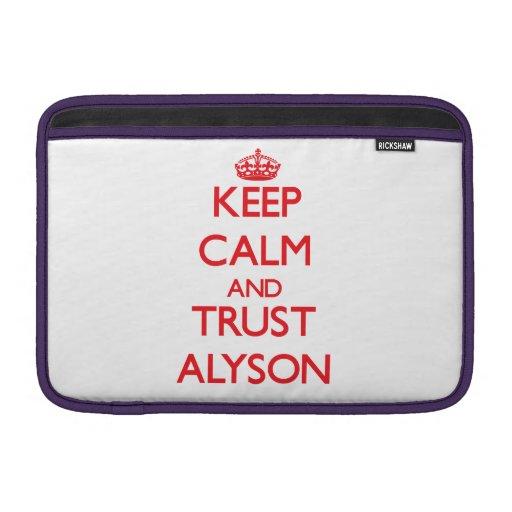 Keep Calm and TRUST Alyson MacBook Air Sleeve