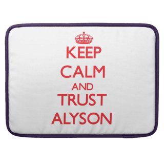 Keep Calm and TRUST Alyson Sleeve For MacBooks