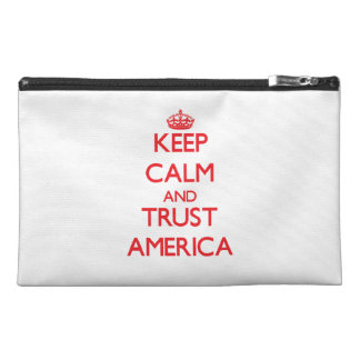 Keep Calm and TRUST America Travel Accessory Bags