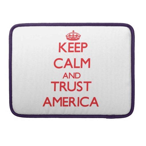 Keep Calm and TRUST America MacBook Pro Sleeve