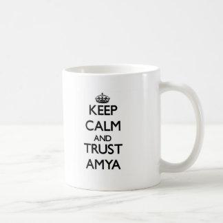 Keep Calm and trust Amya Coffee Mugs