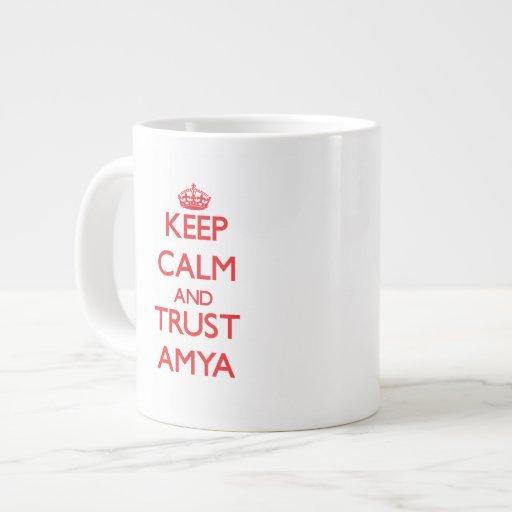 Keep Calm and TRUST Amya Extra Large Mugs