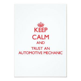 Keep Calm and Trust an Automotive Mechanic Custom Announcements