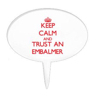 Keep Calm and Trust an Embalmer Cake Picks