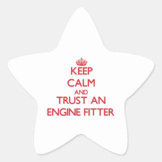 Keep Calm and Trust an Engine Fitter Star Sticker