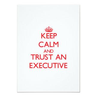 Keep Calm and Trust an Executive Card