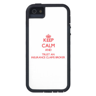 Keep Calm and Trust an Insurance Claims Broker iPhone 5 Cases