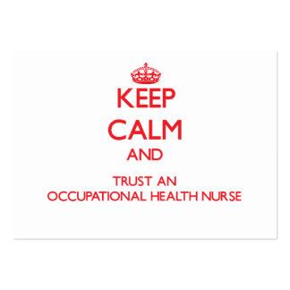 Keep Calm and Trust an Occupational Health Nurse Business Card Templates