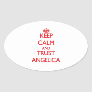 Keep Calm and TRUST Angelica Oval Sticker