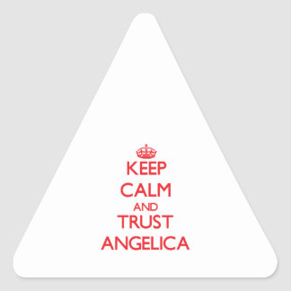 Keep Calm and TRUST Angelica Triangle Sticker