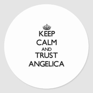 Keep Calm and trust Angelica Sticker