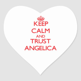 Keep Calm and TRUST Angelica Heart Stickers