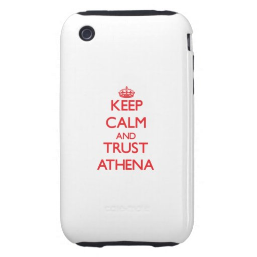 Keep Calm and TRUST Athena iPhone 3 Tough Cover