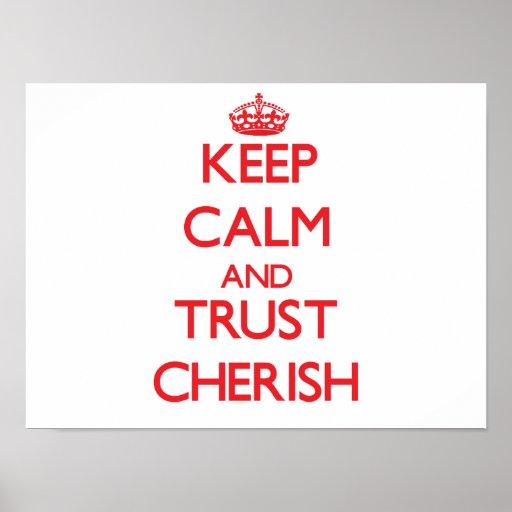 Keep Calm and TRUST Cherish Poster