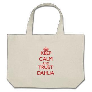 Keep Calm and TRUST Dahlia Canvas Bag