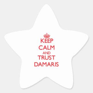 Keep Calm and TRUST Damaris Star Sticker
