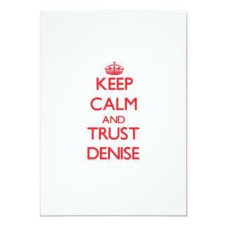 Keep Calm and TRUST Denise 13 Cm X 18 Cm Invitation Card