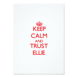 Keep Calm and TRUST Ellie 13 Cm X 18 Cm Invitation Card