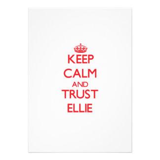 Keep Calm and TRUST Ellie Custom Invites