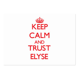 Keep Calm and TRUST Elyse Pack Of Chubby Business Cards