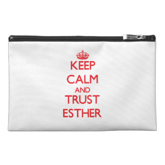 Keep Calm and TRUST Esther Travel Accessory Bag