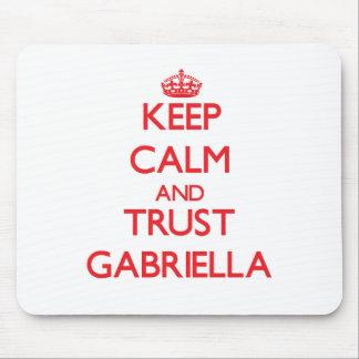 Keep Calm and TRUST Gabriella Mouse Pad