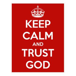 Keep Calm and Trust God Postcard