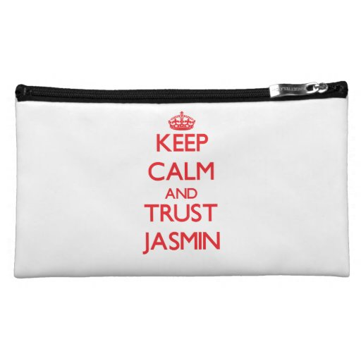 Keep Calm and TRUST Jasmin Cosmetic Bags