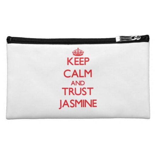 Keep Calm and TRUST Jasmine Cosmetic Bag