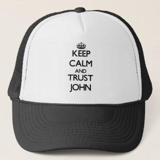 Keep Calm and TRUST John Trucker Hat