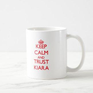 Keep Calm and TRUST Kiara Basic White Mug