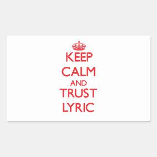 Keep Calm and TRUST Lyric Sticker