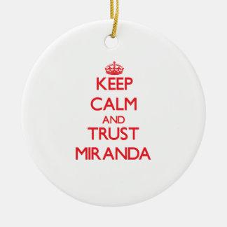 Keep Calm and TRUST Miranda Round Ceramic Decoration