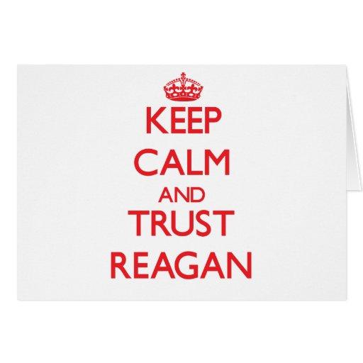 Keep Calm and TRUST Reagan Card