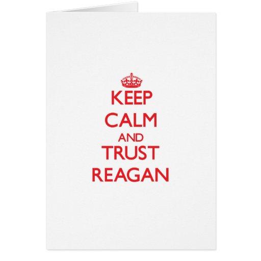 Keep Calm and TRUST Reagan Greeting Card