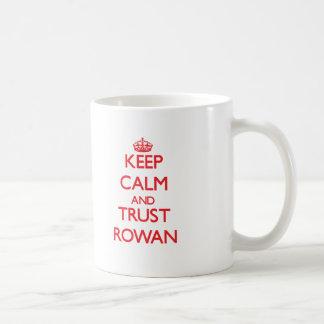 Keep Calm and TRUST Rowan Basic White Mug