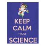 Keep Calm and Trust Science Postcard