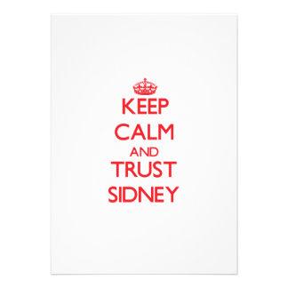 Keep Calm and TRUST Sidney Custom Invite