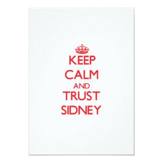 Keep Calm and TRUST Sidney 13 Cm X 18 Cm Invitation Card