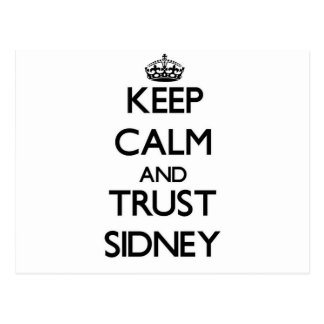 Keep Calm and trust Sidney Postcard